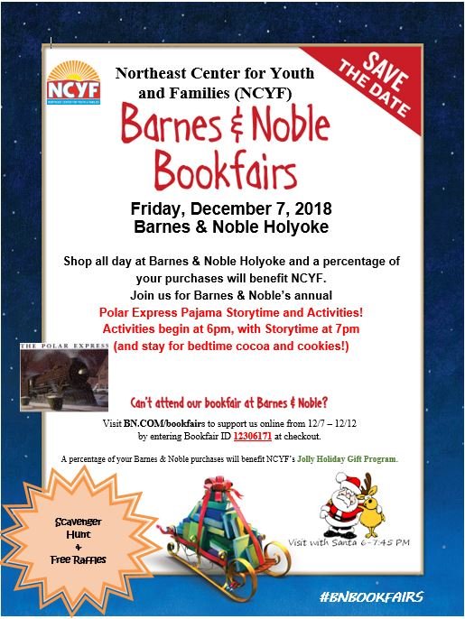 Don't miss our 2018 Barnes & Noble Bookfair on December 7th